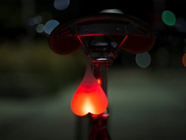 Bike balls on a bicycle light on