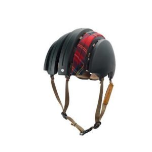 Product image of Brooks England bicycle helmet in black and red