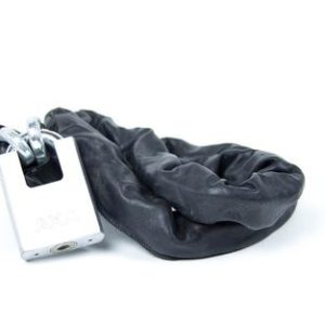 Product image of AXA Chain lock leather in black
