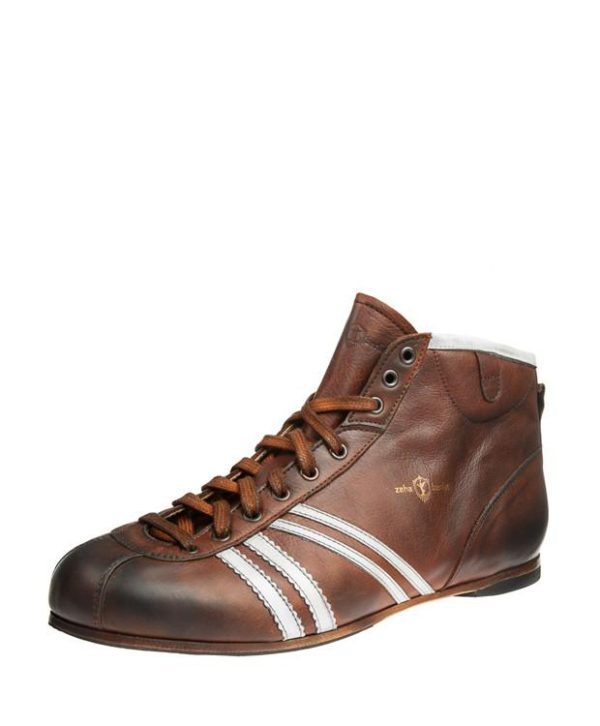 Product image from the front side of Zeha Berlin's Carl Häßner Derby in Cognac