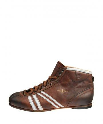Product image from the side of Zeha Berlin's Carl Häßner Derby in Cognac