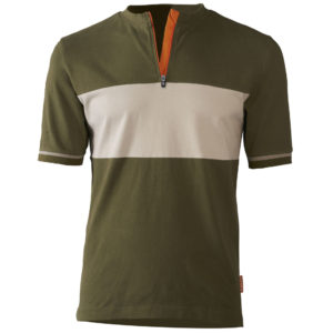 Bicyclette's Charmeur bicycle shirt in Army green from the front