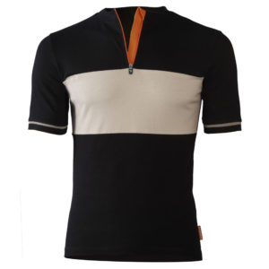 Bicyclette's Charmeur bicycle shirt in black from the front