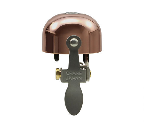 Product image of Crane bell's E-ne bicycle bell in Copper