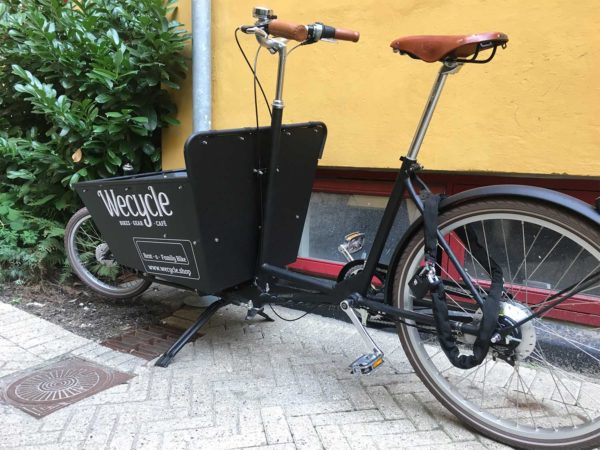 Wecycle's cargobike for rent