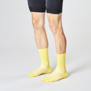 Product image of the front side of Fingerscrossed banana bicycle socks