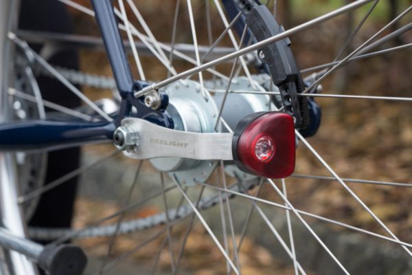 Reelight's CPH Light bicycle rear light attached to a bike