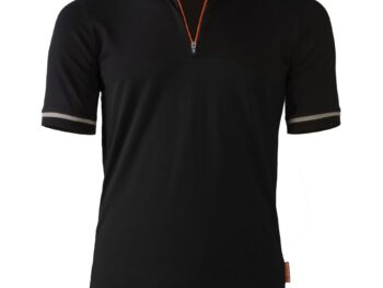 Bicyclette's Coureur bicycle shirt in black from the front